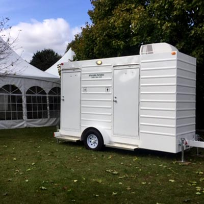Air Conditioned Toilet Trailer Rental for Weddings