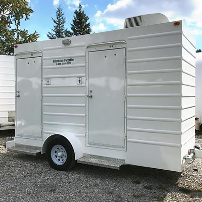 McKee Portable Toilet Trailer for Weddings