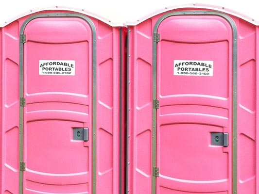 Pink Portable Toilets