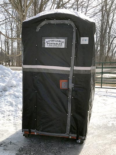 Optional insulated cover protects against cold weather