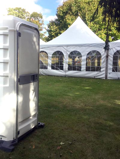 White VIP Portables at Wedding