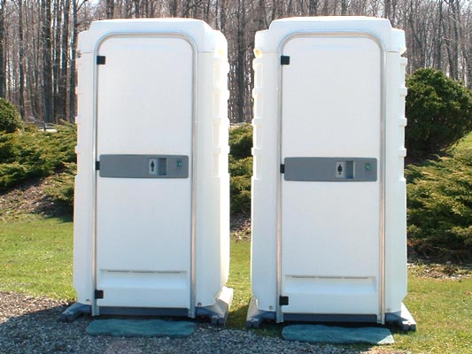 White VIP Portable Toilets